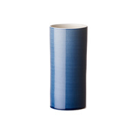 Bloom small denim blue glaze vase