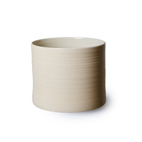 Bloom flowerpots in cream