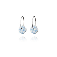 Stripes hoop earrings