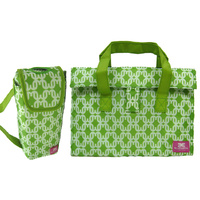 Insulated lunch bag and drink bottle bag