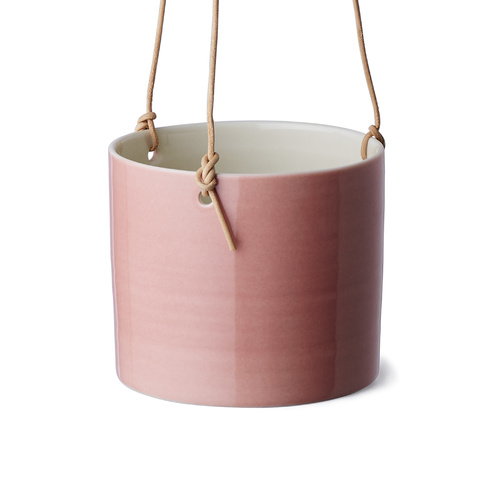 Grow hanging flower pot in coral pink
